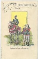 Gardes De La Cour De Bourgogne. Fêtes De Bruges. Tournoi De L´Arbre D´Or, Sig. Floc Van Acker - Histoire