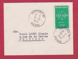Enveloppe //  Pour Poitiers  //  19/09/59 - 1961-....