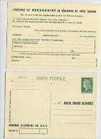 30c Marianne De Cheffer 1611-CP1 Avrc Repiquage Recto Et Verso : BUREAU COMMUN AUTOMOBILE Demande D'expertise Au B.C.A. - Entiers Postaux