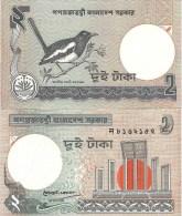 Bangladesh P6Ca, 1 Taka, Magpie Robin / Shaheed Minar Monument $4 CV - Bangladesh