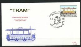 Belgien  -  FDC   -. Historische Straßenbahnen - Unclassified