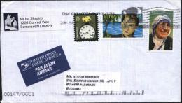 Mailed Cover (letter) With Stamps  From USA To Bulgaria - United States