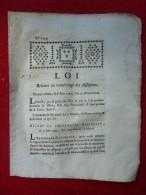 LOI RELATIVE AU NUMEROTAGE DES ASSIGNATS 1792 - Décrets & Lois
