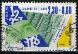 FRANCE 2640° 2f30 + 60c Bleu, Jaune Et Vert Journée Du Timbre 1990 Issu De Carnet (10% De La Cote + 0,15€) - Gebraucht