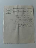 Lettre 1894 épiceries Drogueries Salaisons Vins & Spiritueux GEFFROY Frères & Soeur Dinan Place Du Champ - France