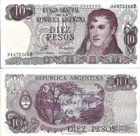 Argentina P300. 10 Pesos, General Belgrano / Iguazu Fallss, Misiones - Argentine