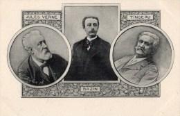 """Ecrivains, Jules VERNE, BAZIN, TINSEAU   Carte 1900 Série """"Les Annales Politiques Et Littéraires """" CPA - Ecrivains"""