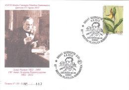 ITALIA 2012 MOSTRA FILATELICA QUERCETA LOUIS PASTEUR SCIENZIATO - TIRATURA LIMITATA - 6. 1946-.. Repubblica