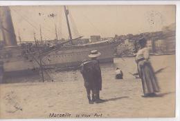 13 / MARSEILLE / SUPERBE  CARTE PHOTO VIEUX PORT QUAI DE RIVE NEUVE - Canebière, Centre Ville