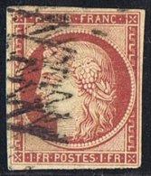 Cérès  1 Fr  Yv 6   Signé, Petit Clair - 1849-1850 Ceres