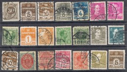 Pequeño Lote 21 Sellos DINAMARCA 1900-1950 º - Dinamarca