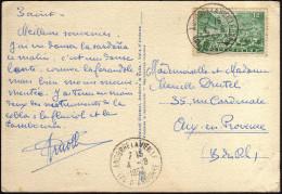 Andorre Français 1952. Carte Postale Affranchie 12 F Y&T 130. Vallées D'Andorre, Canillo, église Style Roman. Moutons - Lettres & Documents
