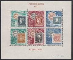 Chad MNH Scott #C79a Souvenir Sheet Of 6 Philexocam 1971 Fort Lamy - Tchad (1960-...)