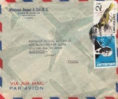 URUGUAY - 2 Fach Frankierung Auf LP-Brief Von Montevideo > Montreuil - Uruguay