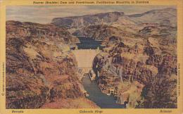 Nevada Boulder Dam and Powerhouse Curteich