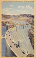 Nevada Boulder Dam Highway Across Dam 1940 Curteich