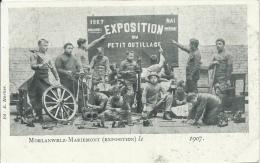 Morlanwelz-Mariemont - Ecole Industrielle - Exposition De 1907 - Elèves Avec Différent Outils - 1907 ( Voir Verso ) - Morlanwelz