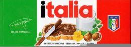 ADESIVO NUTELLA FERRERO 2014 NAZIONALE ITALIA CON FIRMA - Nutella