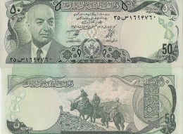 Afghanistan P49a, 50 Afghans, President Muhammad Daud / Yaks $5CV - Afghanistan