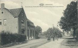 Hechtel - Handelshuis Verlinden-Wuyts En Steenweg Naar Leopoldburg - 1922 ( Voir Verso ) - Hechtel-Eksel
