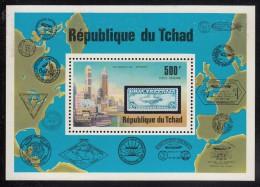 Chad MNH Scott #C210 Souvenir Sheet 500fr Zeppelin, 75th Anniversary - Tchad (1960-...)