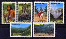 Dominica 1988. Yvert 1003-08 ** MNH.