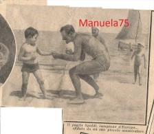 Pugile Aldo Spoldi (Castiglione Delle Stiviere Mantova 1912 - USA 1977) - Da Una Rivista Rovinata Del 1938 - Découpis