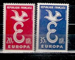 Europa 1958  N° 1173/4  (état: X X Sans Charnière) - France