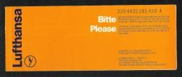 Lufthansa  Airline Transport Ticket Used  Passenger Ticket 4 Scan