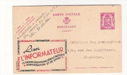 Publibel Obl. N° 608A (lisez L'INFORMATEUR)  Obl: 23/02/1946