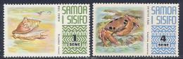 Samoa, Scott # 369,372 MNH Conch, Crab, 1972 - Samoa