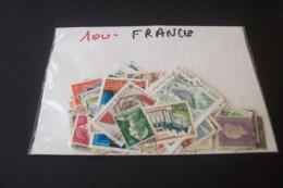 100 TIMBRES DE FRANCE - France