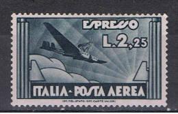 REGNO:  1933  P.A. ESPRESSO  AEREO  -  £. 2,25  ARDESIA  L. -  SASS. 44 - Luftpost