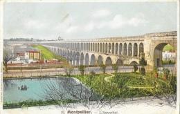 Montpellier - L´Aqueduc Des Arceaux - Carte Colorée - Montpellier
