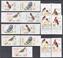 BHUTAN  99-99 H  IMPERFS   *   FAUNA  BIRDS - Bhutan