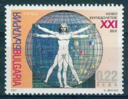+ 4499 Bulgaria 2001 Nudes - New Millennium Leonardo Da Vinci  ITALY **MNH / Paciolis Buch De Divina Proportione - Nus