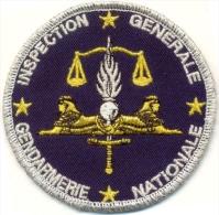Inspection Générale De La Gendarmerie Nationale - Agréé DGGN Au Dos - Police