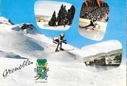 Olympique - Multivues: Grenoble Ville Olympique - Carte La Cigogne Non Circulée - Olympische Spiele