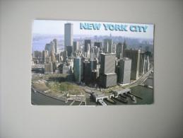 ETATS UNIS NY NEW YORK CITY AERIAL VIEW OF BUSTLING LOWER MANHATTAN - Manhattan
