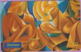 Télécarte Brésil °° Arts  -  Marlez  .  Diner  Abstrait  °  03.2000 - Brésil