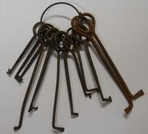 RARE trousseau de clefs Passe-partout ancien S�same du Serrurier ou du cambrioleur Jadis dans son jus 12 cl�s