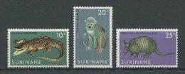 SURINAM  1969  N� 496/498  **  Neufs = MNH Superbes Cote 3 � Faune animaux animals Fauna