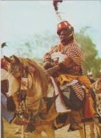 AFRIQUE,AFRICA,AFRIKA,NIG ERIA,golfe  Guinée,NIJERIYA,ex Colonie Britannique,fete,cavalier à Kano Durbar,AID AL FITR - Nigeria