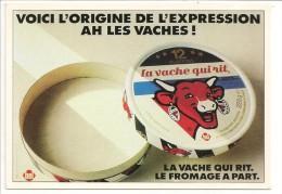 """Publicité LA VACHE QUI RIT : """"Voici L´origine De L´expression Ah Les Vaches !"""" - Le Fromage à Part - ATLAS 1985 - Advertising"""