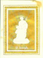 Ancienne Image De Saint Joseph En Relief - Fond Doré - Devotieprenten