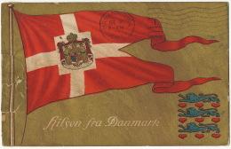 Hilsen Fra Danmark  Flag  Used From Randers Edit Alex Vincents To Cuba - Denmark
