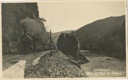 Real Photo Train Calimanesti Oltul La Masa Lui Tralan Used To Cluj 1936 - Roumanie