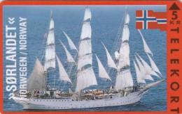 Denmark, KP 049, Soerlandet, Norway, Sailing Ship, Mint, Only 3500 Issued, Flag, 2 Scans. - Denmark