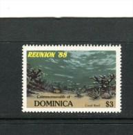 DOMINIQUE - Y&T n� 1008** - R�cif de corail