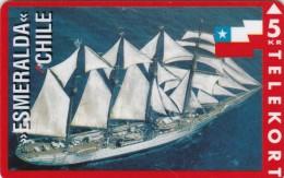 Denmark, KP 098, Esmeralda, Chile, Sailing Ship, Mint, Only 2500 Issued, Flag, 2 Scans. - Denmark